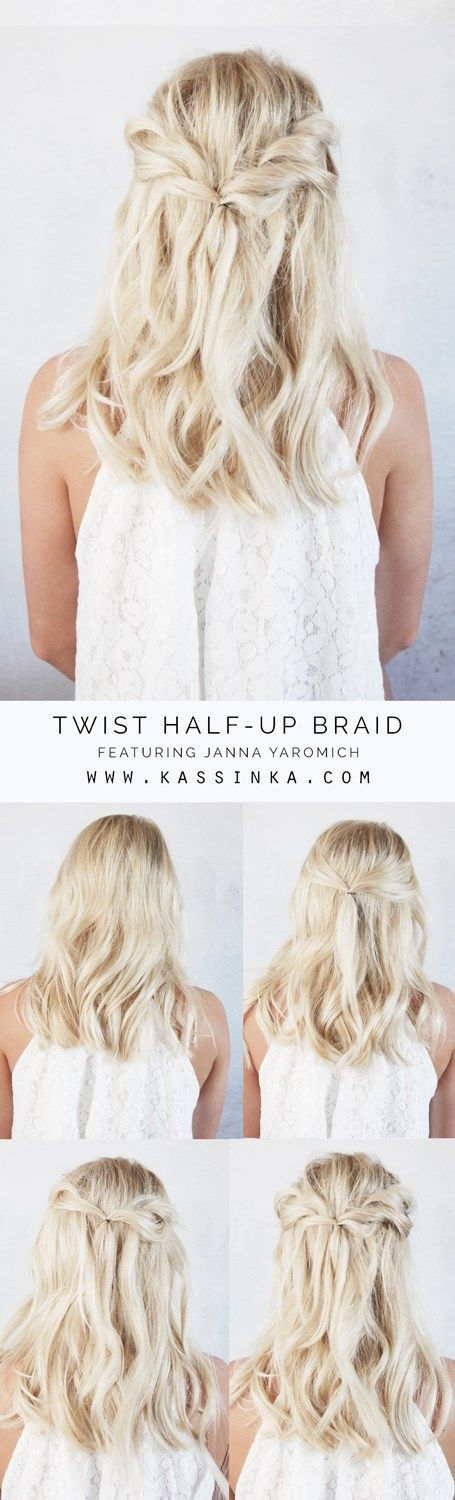 twist half up braid