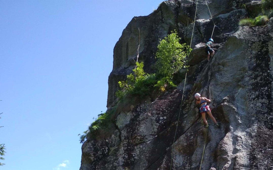 Climbing in Valmasino Italy