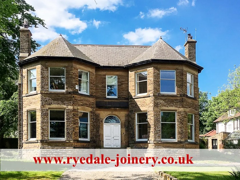 A photo of a large house in Leeds we all sash windows upgraded and double-glazed.