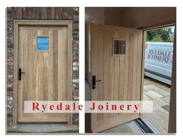 A bespoke door manufactured by Ryedale Joinery in European Oak.