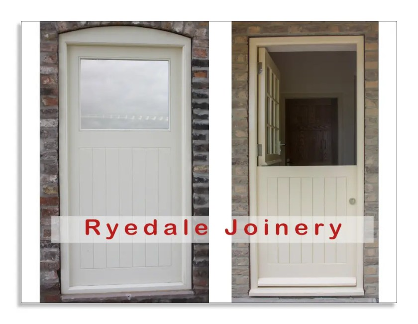 Two external doors manufactured in Accoya®