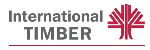 International Timber Logo with red tree icon