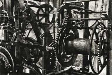 CALLING TIME - he Piranesi-esque mechanism of the clock in the tower of St Mary's in Rye -Limited edition etching by Colin  Bailey  Click here to see larger more detailed image and view purchasing options