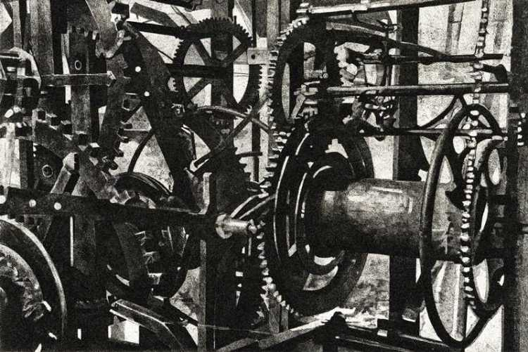 TCALLING TIME - he Piranesi-esque mechanism of the clock in the tower of St Mary's in Rye -Limited edition etching by Colin  Bailey