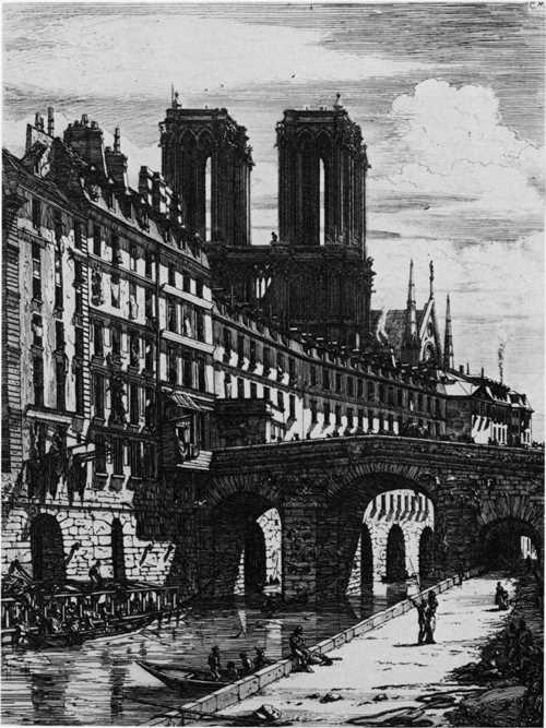 "Printmaking: Le Petit Pont(""The Small Bridge""), 1850 Charles Meryon"