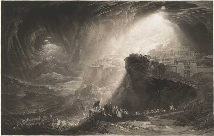 What is etching? various intaglio processes combine on monumental plate by John Martin. Mezzotint and etching - addition and subtraction of tone.