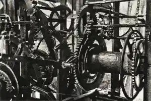 CALLING TIME - The Piranesi-esque mechanism of the clock in the tower of St Mary's in Rye -Limited edition prints by Colin Bailey