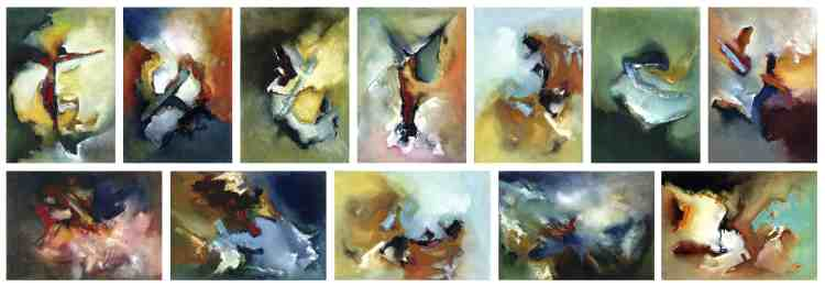 abstract paintings by Colin bailey