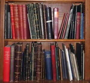 Photograph of John Rylands Library manuscript catalogues