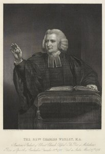 Portrait engraving of Charles Wesley (MARC MAW Ms 279).