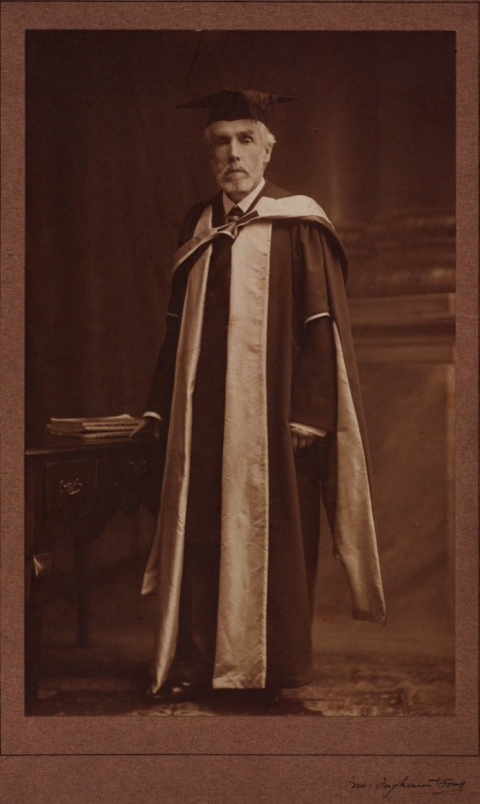 Photograph of Jesse Haworth (1835-1920), first President of the Manchester Egyptian Association, c.1910. MEO/6/2/2.