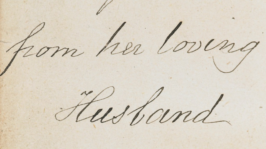 Inscription: E Rylands from her loving Husband Octr. 6 1875