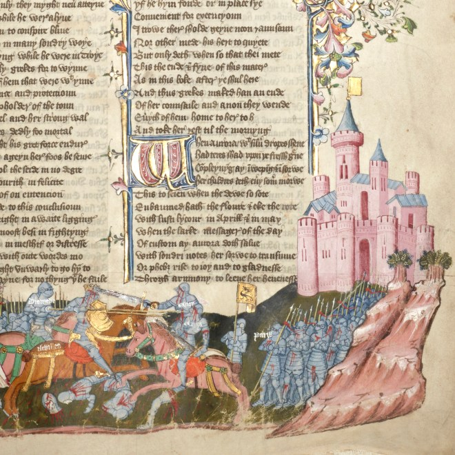 Siege of Troy. Book three: Hector and Paris fight Achilles and Diomedes