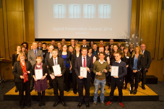 All the Digital Preservation Awards finalists and judges. Photograph courtesy of the DPC.