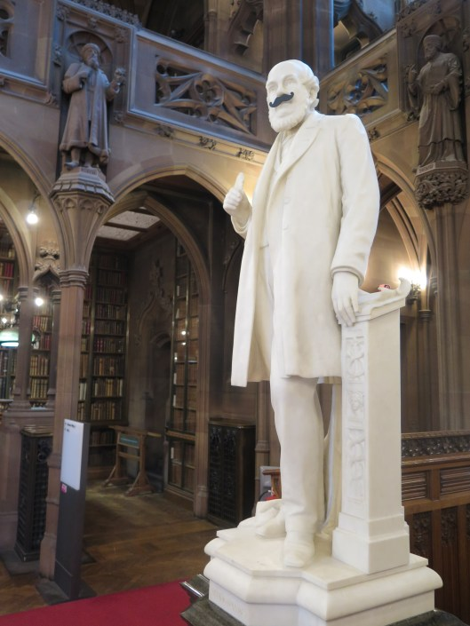 John Rylands looking dapper in his moustache