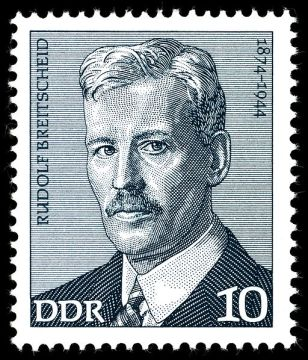 Rudolph Breitscheid, German Stamp, 1974 © Wikimedia Commons