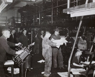 Manchester Guardian Machine Room, July 1947.