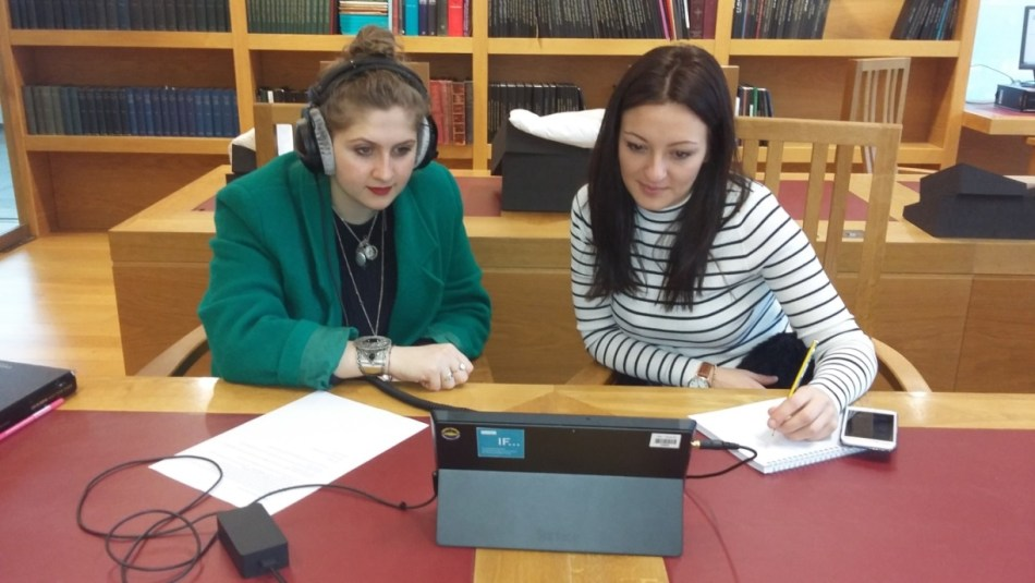 Students listening to Delia Derbyshire