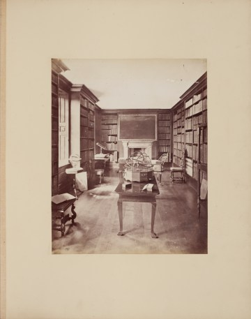 The Library at Dunham Massey by James Mudd, c1870s, Ref. VPH..10.17