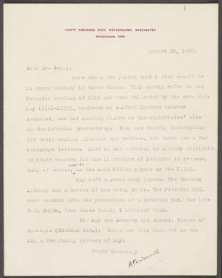 Wadsworth letter