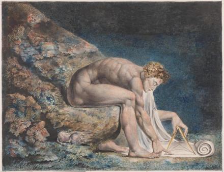 Newton by William Blake (1795-c. 1805). Tate. Presented by W. Graham Robertson 1939.