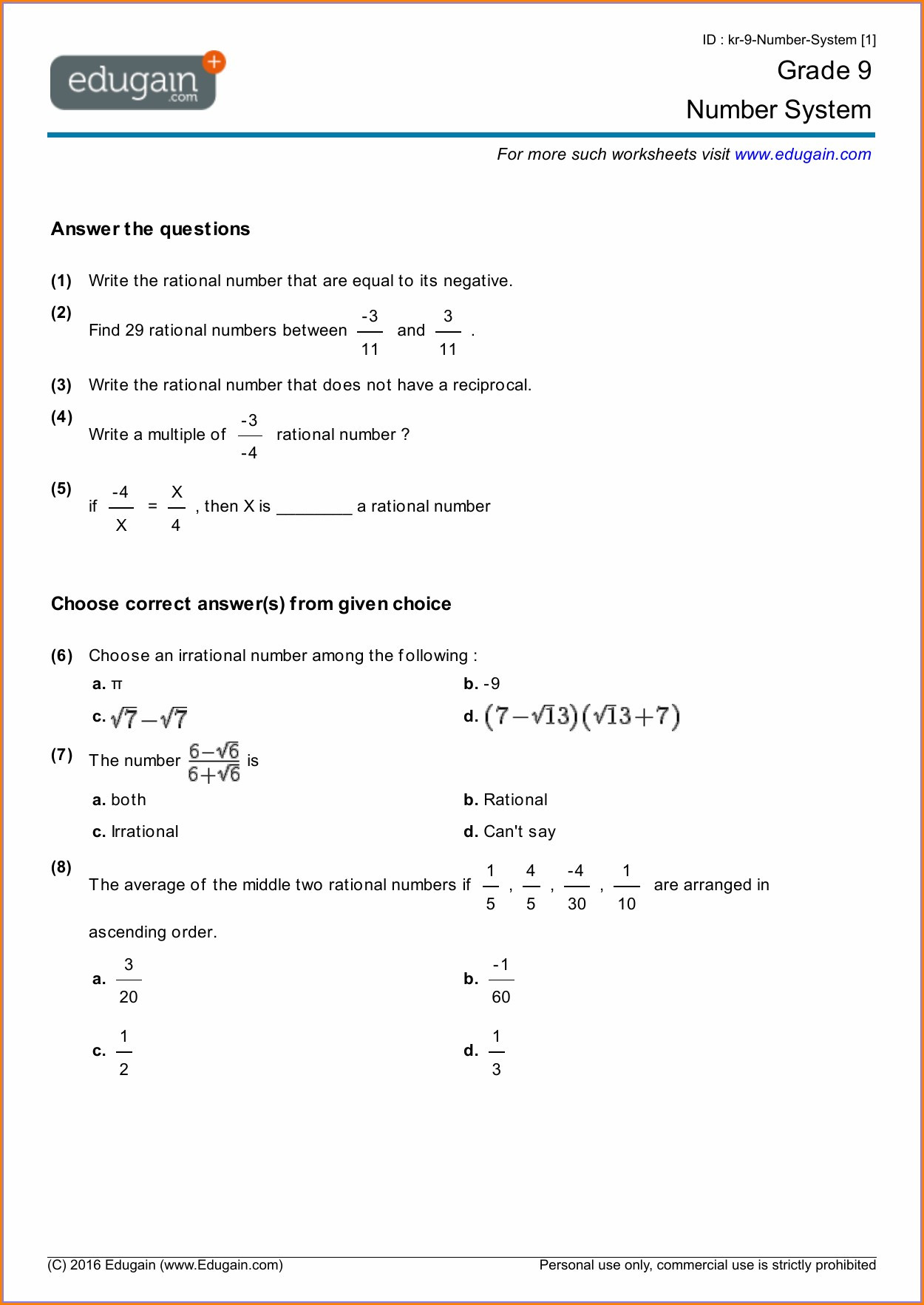 hight resolution of Worksheet Rational Numbers Grade 7   Printable Worksheets and Activities  for Teachers