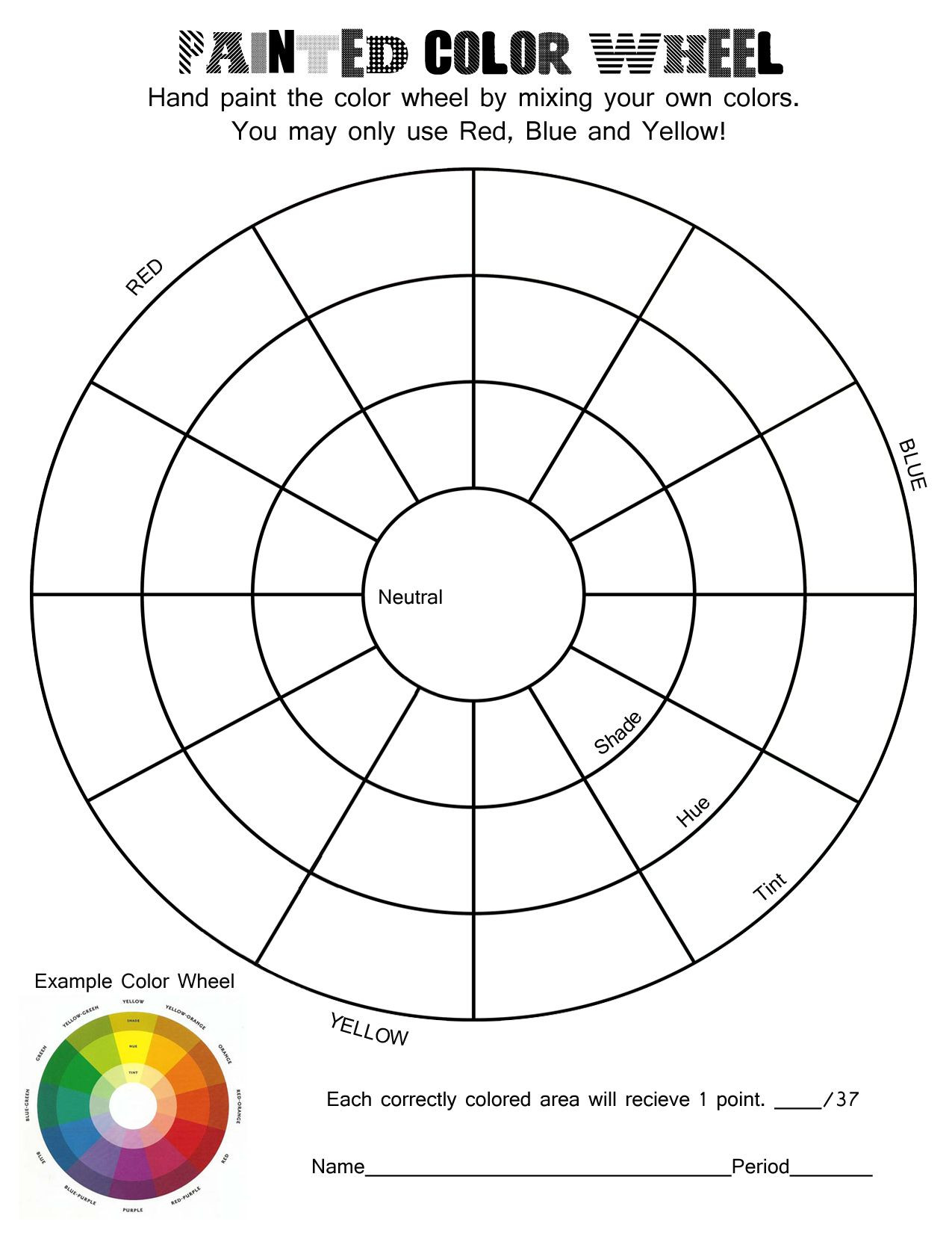 30 Color Theory Worksheet Answer Key