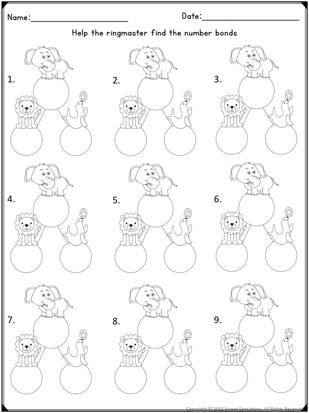 Decomposing Numbers First Grade Worksheets Theme Library