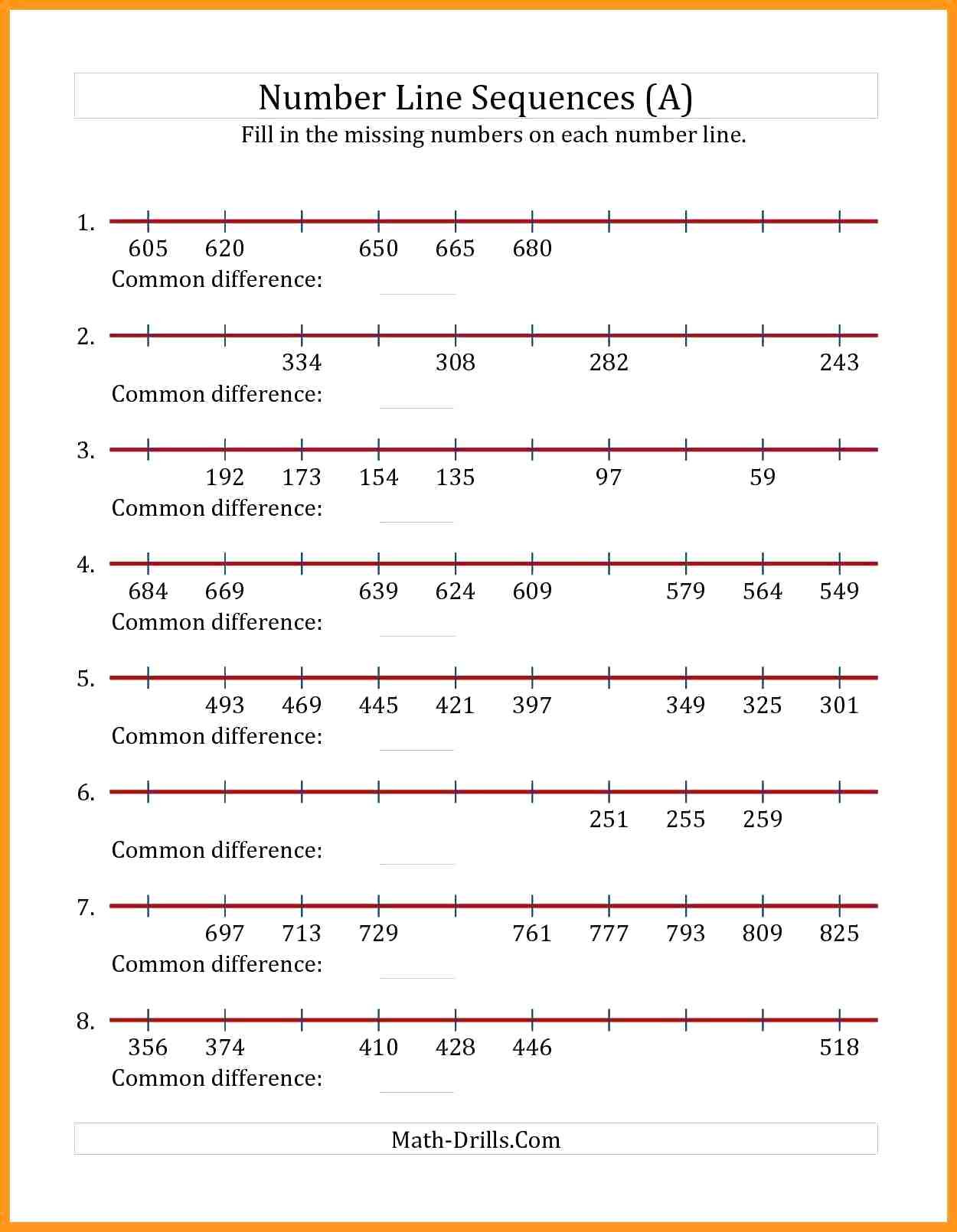 30 Equivalent Fractions Number Line Worksheet