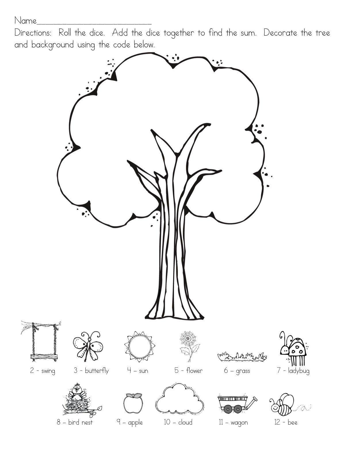 30 Following Directions Coloring Worksheet