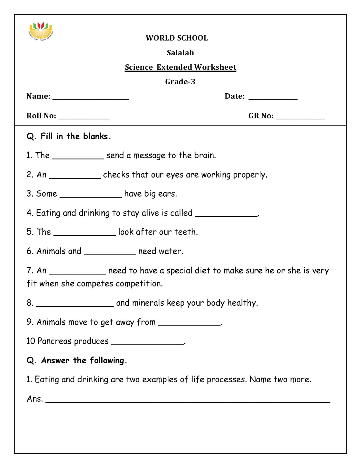 30 Introduction To Animals Worksheet