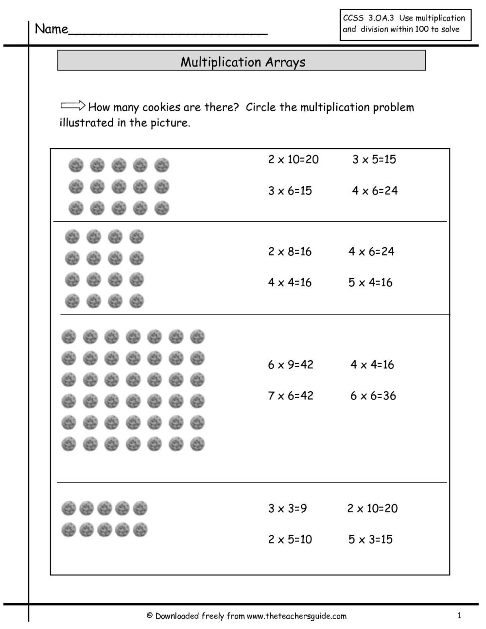 medium resolution of Open Array Multiplication Worksheet   Printable Worksheets and Activities  for Teachers