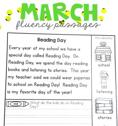 Reading Fluency 1st Grade Worksheets   Printable Worksheets and Activities  for Teachers [ 1365 x 1365 Pixel ]