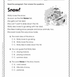 Reading Fluency Worksheets For 4th Grade   Printable Worksheets and  Activities for Teachers [ 2468 x 1900 Pixel ]