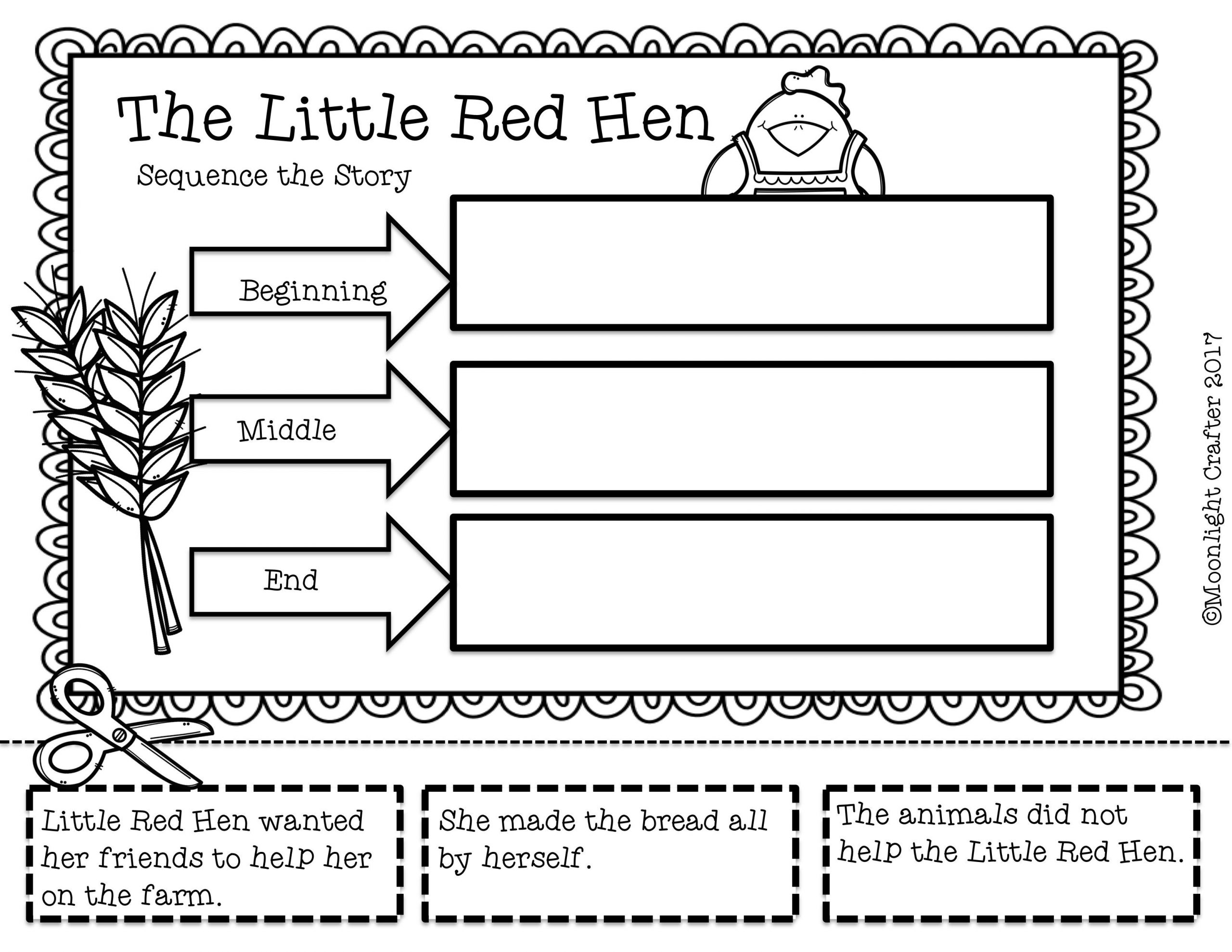30 5 Finger Retell Worksheet