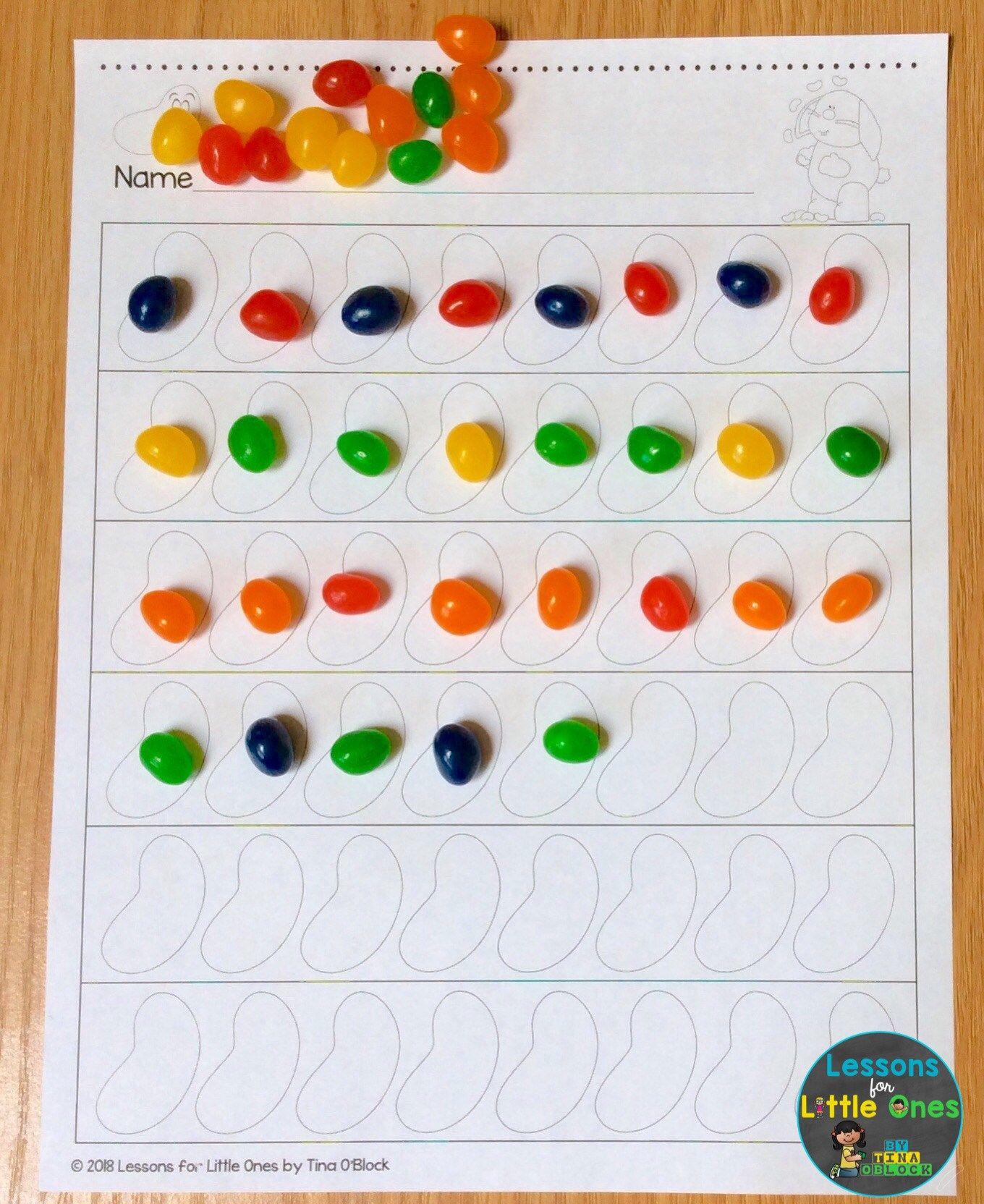 30 Jelly Bean Graphing Worksheet