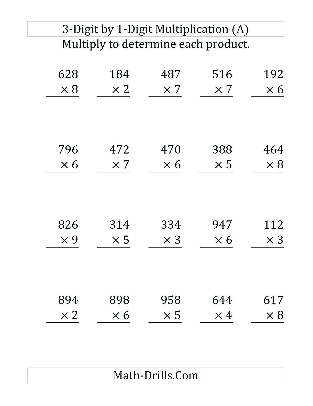 Multiplication Worksheets 1 10 Theme Library