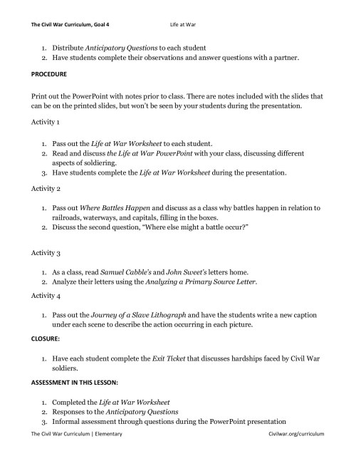 small resolution of Civil War Worksheets 8th   Printable Worksheets and Activities for  Teachers