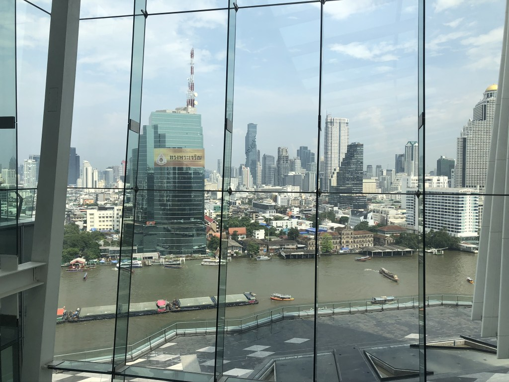 A picture of the Bangkok skyline, view from top floor of ICONSIAM