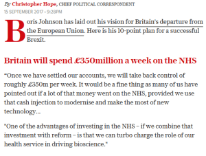 £350M a week for NHS