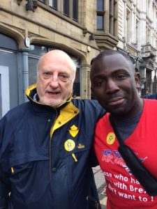 Allen Nixon and Femi at Leeds