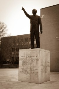 Statue of Martin Luther King Jr. at Morehouse College in Atlanta, Georgia