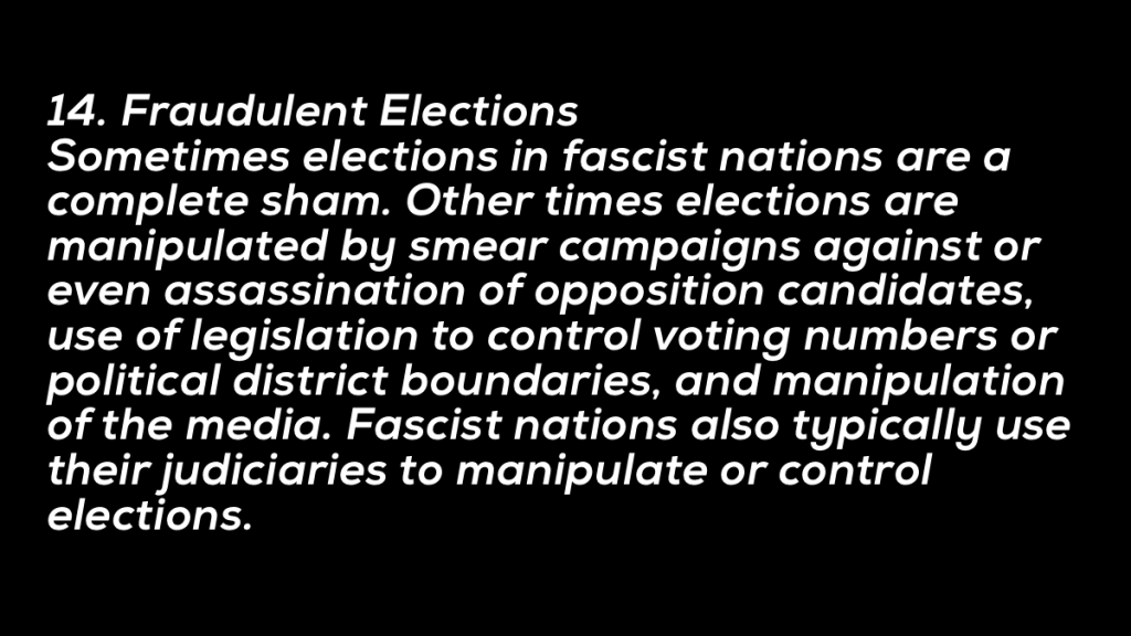 The Tenets of Fascism  #14