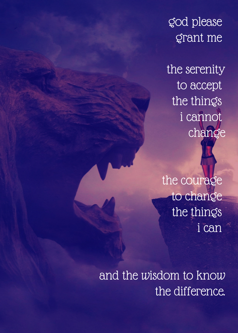 serenity prayer with cool background