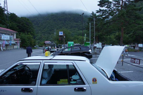 沢渡駐車場からタクシーで上高地