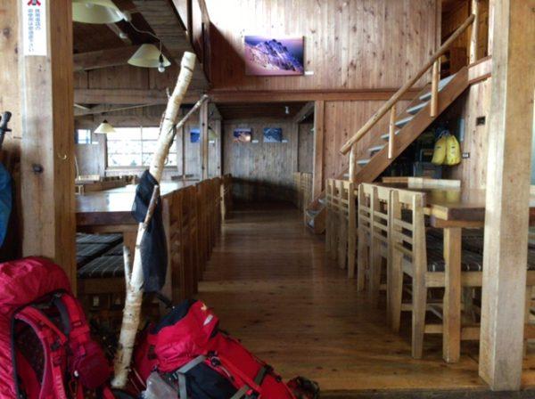 穂高岳山荘食堂