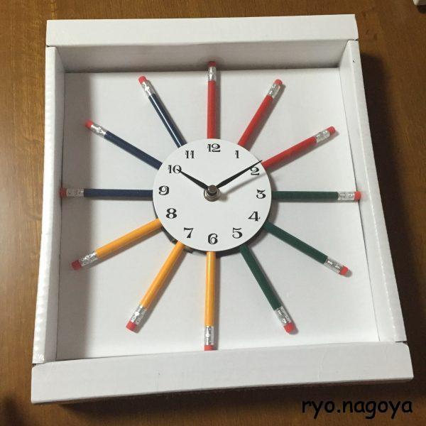 色鉛筆の時計