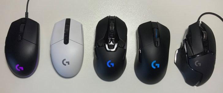 G903h ロジクール製マウス 比較画像