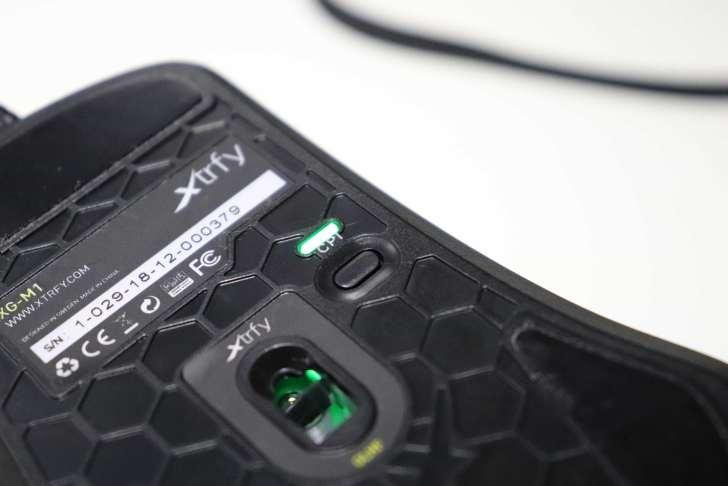 Xtrfy M1 DPI変更ボタン
