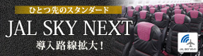 「JAL SKY NEXT」で座席を刷新